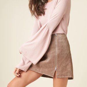 BLANKNYC suede mini skirt